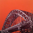 Dean Waite - Commission: 'Tyne Bridge', a illustration of the Tyne Bridge, Newcastle (Black biro & spray paint on paper)