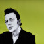 Dean Waite - Sold: 'Strummer', a portrait of Joe Strummer of 'The Clash' (Black biro and spray paint on paper)