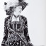 Dean Waite - For sale: 'Pearly Queen', a portrait of a Pearly Queen (Black biro and graphite on paper)